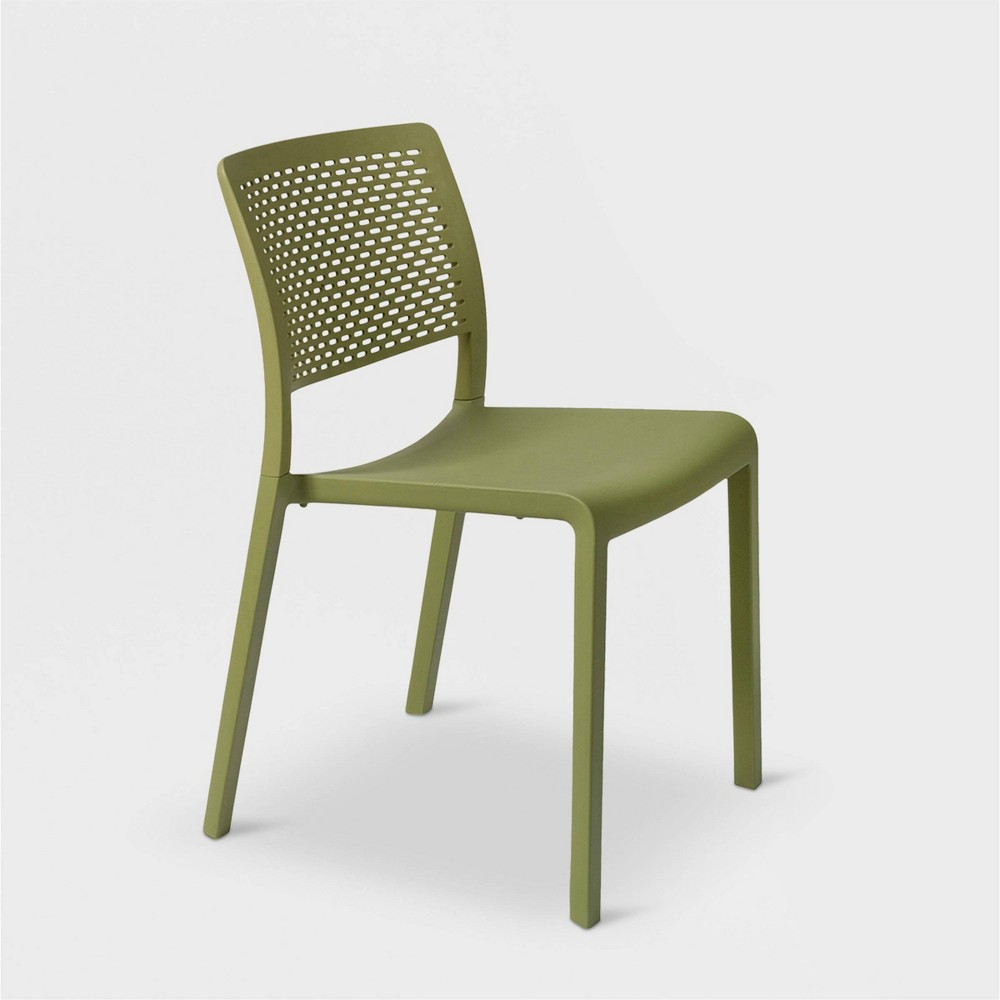 Trama 2pk Patio Chair - Olive Green - Resol