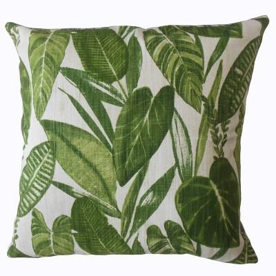 Eden Garden Square Throw Pillow Green - Pillow Collection