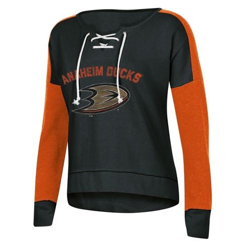 lowest price a116f 2e0d0 NHL Anaheim Ducks Women's Warming House Open Neck Fleece Sweatshirt