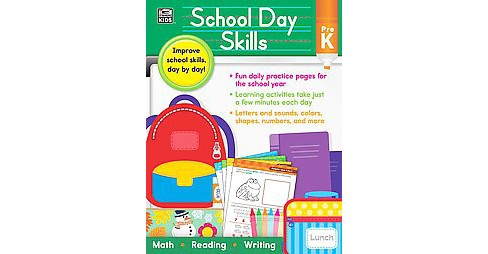 School Day Skills, Grade Pre K (Paperback) (Thinking Kids (COR)) - image 1 of 1