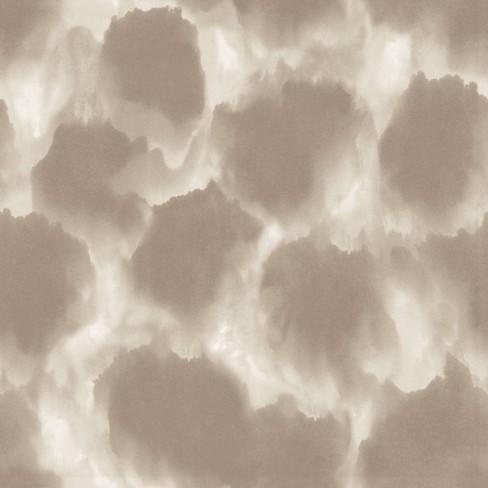 Shibori Clouds Self-Adhesive Removable Wallpaper Neutral Beige - Tempaper - image 1 of 2