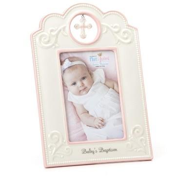 DEMDACO Pink Baby's Baptism Frame 6.75 x 9.75 - Multi