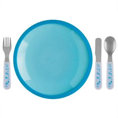 5pc Silicone Plate and Utensil Set - Brinware