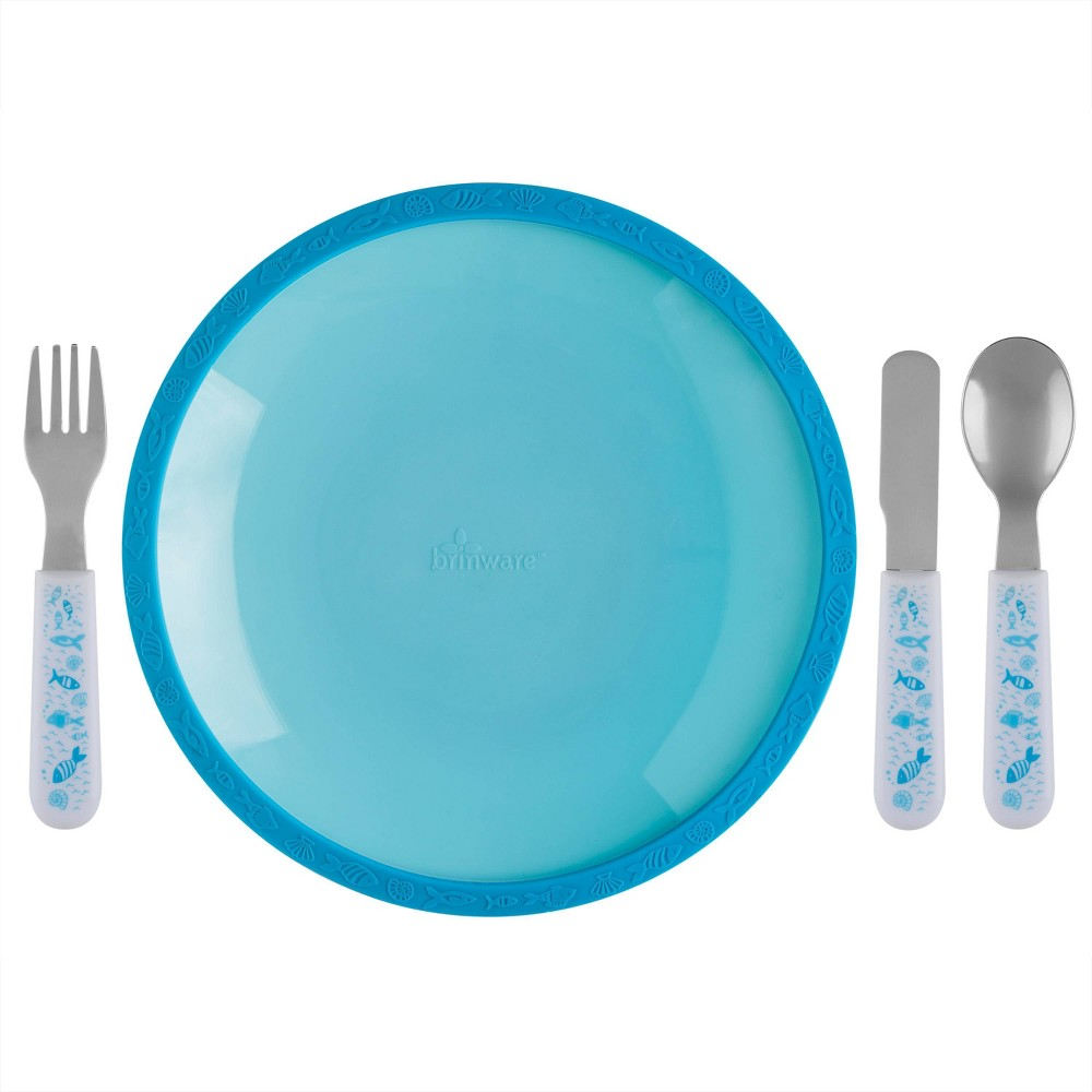 Reviews 5pc Silicone Plate and Utensil Set  - Brinware