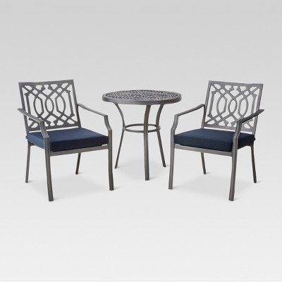 Harper 3pc Patio Bistro Dining Set - Navy - Threshold™