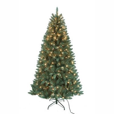 Kurt Adler 7' Pre-Lit Pine Tree with Clear Lights