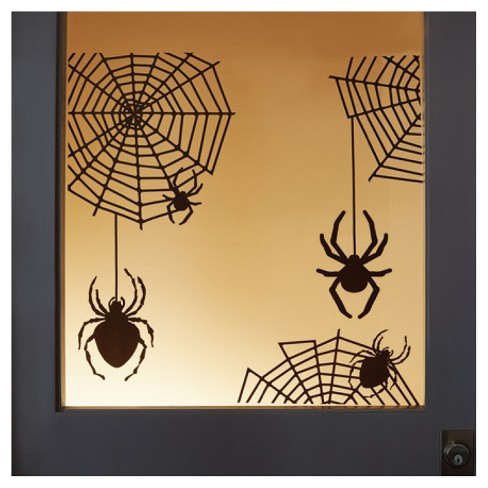 Halloween Spider and Web Silhouette Window and Wall Cling - Hyde and ...