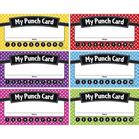 Teacher Created Resources Polka Dots Punch Cards, 5-3/4 x 3 inches, pk of 60 - image 1 of 1