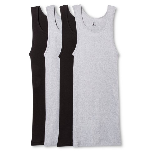 7216675e0d7 Hanes® Men's 4Pk Tanks With Fresh IQ - Black/Gray