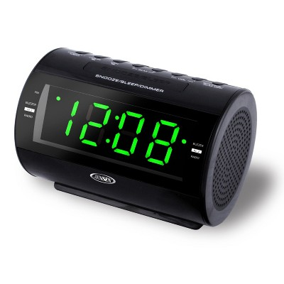 JENSEN AM/FM Digital Dual Alarm Clock Radio with LED Display, Nature Sounds, Aux-in (JCR-210)