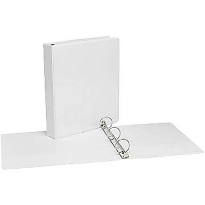 """MyOfficeInnovations 1-1/2"""" Simply View Binders with Round Rings White 12/Pack 358170"""