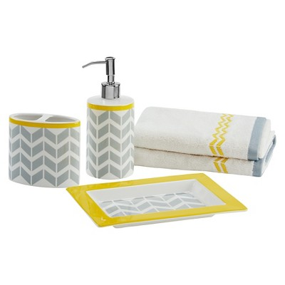 Bath Coordinate Set - Yellow - (8.66X6.3X1 )