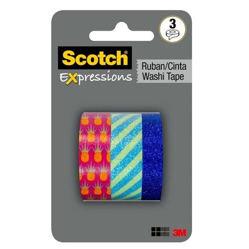 Scotch Expressions 3pk Washi Tape Pineapple - image 1 of 4