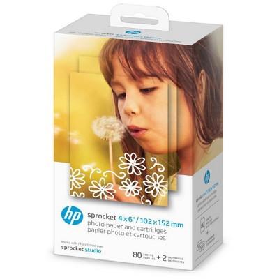 HP Sprocket 4x6 Studio Paper and Ink Cartridges
