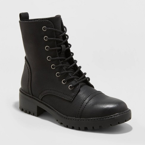Women's Kamryn Faux Leather Combat Boot - Universal Thread™ - image 1 of 3