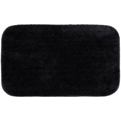 "24""x40"" Traditional Plush Washable Nylon Rug Black - Garland"