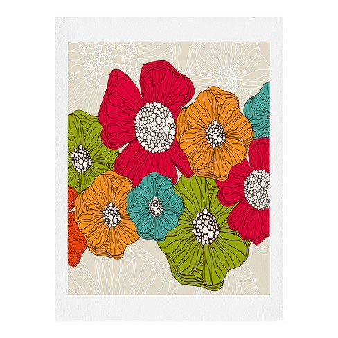 Valentina Ramos Flowers Art Print by Deny Designs - image 1 of 1