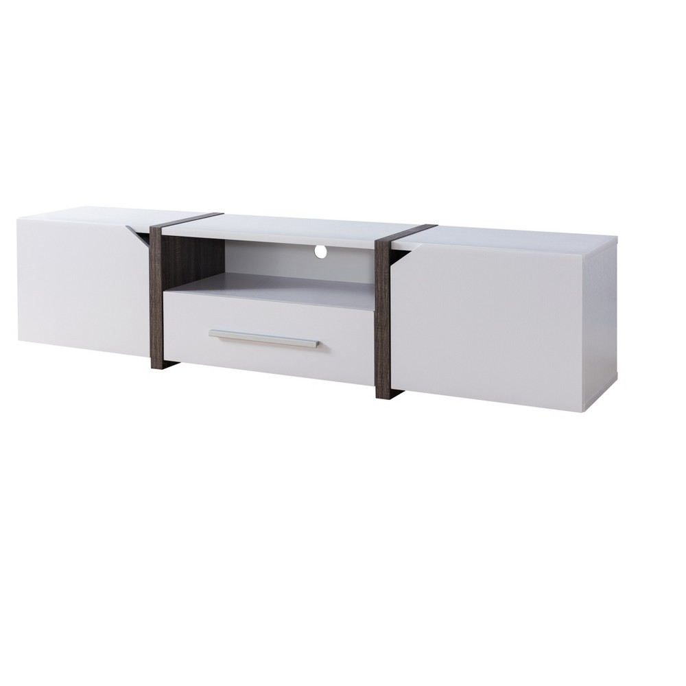 Iohomes Miran Contemporary 81 Tv Stand White - Homes: Inside + Out, Snowball White