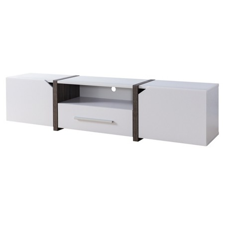 "Iohomes Miran Contemporary 81"" Tv Stand White - HOMES: Inside + Out - image 1 of 3"