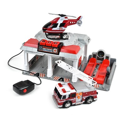 Maxx Action Fire and Rescue Garage - Mini Vehicle Playset