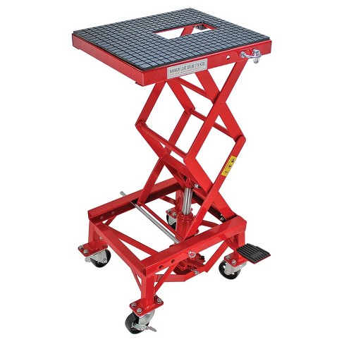 Extreme Max 5001.5083 Hydraulic Motorcycle Bike Lift Table with 300 Pound Weight Capacity and Non Marking Rubber Tabletop, Red - image 1 of 4