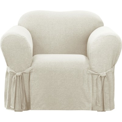 Farmhouse Basketweave Chair Slipcover - Sure Fit