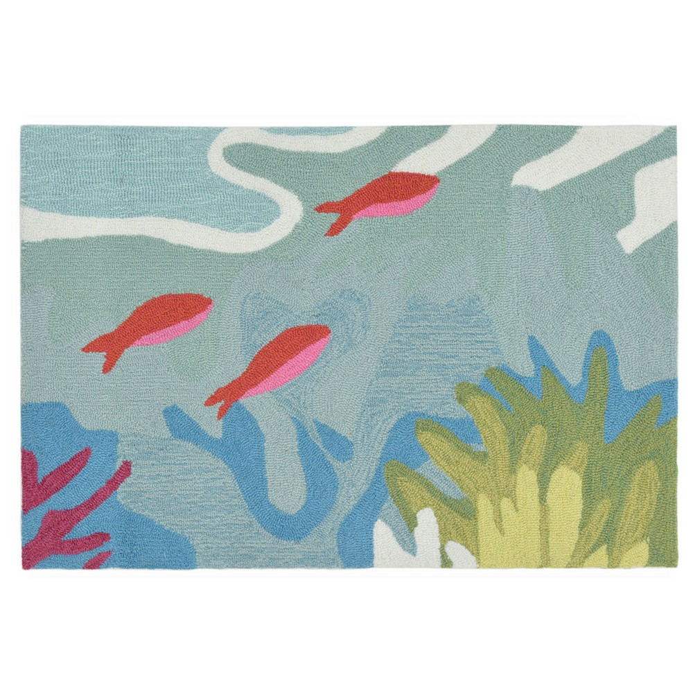 Blue Fish Tufted Accent Rug 2'X3' - Liora Manne