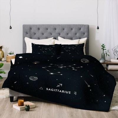 Cuss Yeah Designs Sagittarius Star Constellation Comforter Set - Deny Designs