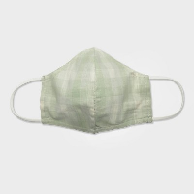 Women's Single Fabric Face Mask - Universal Thread™ Mint Check L/XL