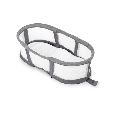 Baby Delight Snuggle Nest Peak - Portable Infant Bassinet - Gray