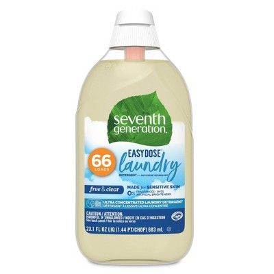 Seventh Generation Free & Clear Ultra-Concentrated 66-Load Laundry Detergent – 23.1oz