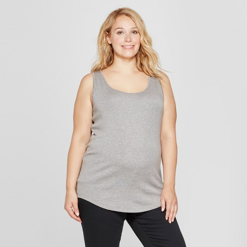 9666d770150ff Maternity Plus Size Scoop Neck Tank - Isabel Maternity by Ingrid   Isabel™