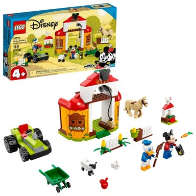 LEGO Disney Mickey and Friends Mickey Mouse & Donald Duck's Farm Building Kit 10775