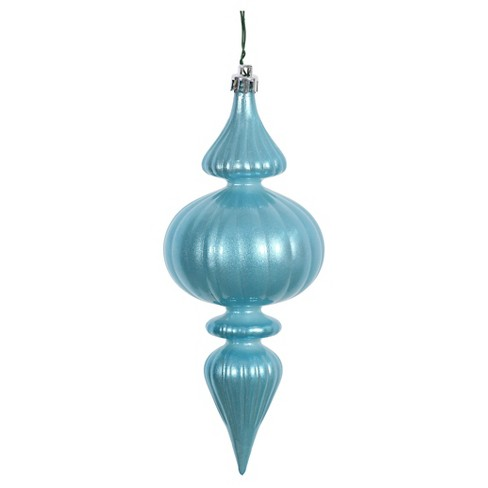 6ct Baby Blue Candy Finial Drilled Christmas Ornament Set - image 1 of 1
