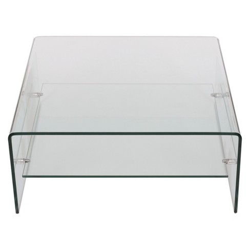 Atticus Tempered Glass Coffee Table Clear Christopher Knight
