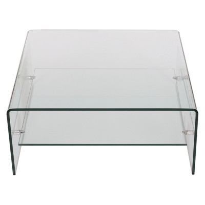 High Quality Atticus Tempered Glass Coffee Table   Clear   Christopher Knight Home