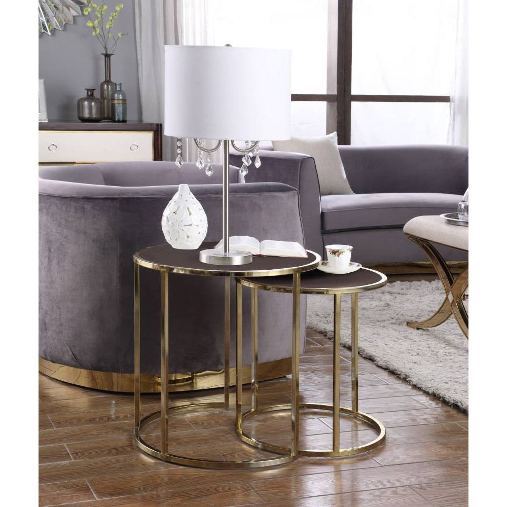 Olivia Side Table Brown - Chic Home Design was $349.99 now $209.99 (40.0% off)