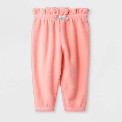 Baby Girls' Microfleece Jogger Pants - Cat & Jack™ Light Pink 3-6M