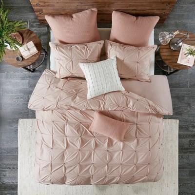 Masie King/California King n/a Cotton Duvet Cover Mini Set Blush