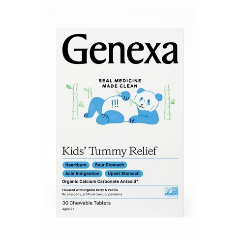 Genexa Kids' Tummy Relief Tablet - 30ct - image 1 of 4