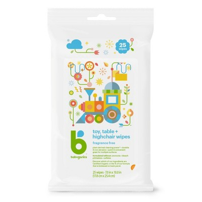 Babyganics Toy And Table Wipes - 25ct