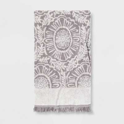 Bath Towel Gray/White - Opalhouse™