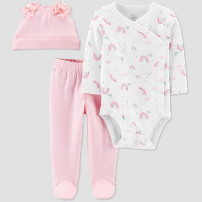 Baby Girls' 3pc Unicorn Bodysuit set - Just One You® made by carter's Pink 9M