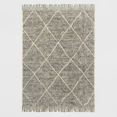 5' x 7' Desert Hatch Outdoor Rug Gray - Opalhouse™