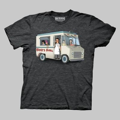 Men's Bob's Burgers Short Sleeve Graphic Crewneck T-Shirt - Charcoal Heather