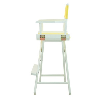 Yellow Bar Height Director's Chair-White