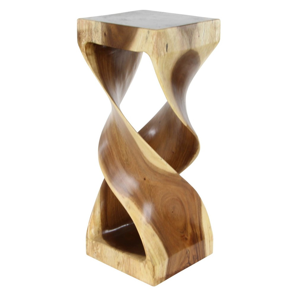 Suar Wood Square Accent Table Brown - Olivia & May