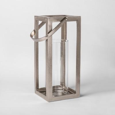 Lantern Candle Holder Large - Silver - Threshold™