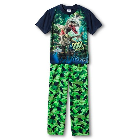 Boys' Jurassic World Pajama Set - Green S - image 1 of 1