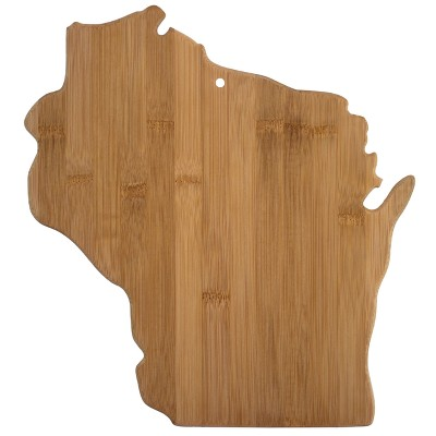 Totally Bamboo Wisconsin State Cutting Board 13  x 12